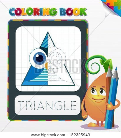Coloring Book Triangle Geometric Form