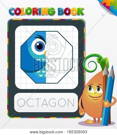 Coloring Book Octagon Geometric Form