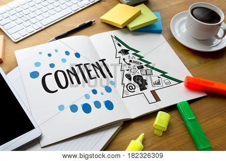Content Marketing Content Data Blogging Media Publication Information Vision Concept