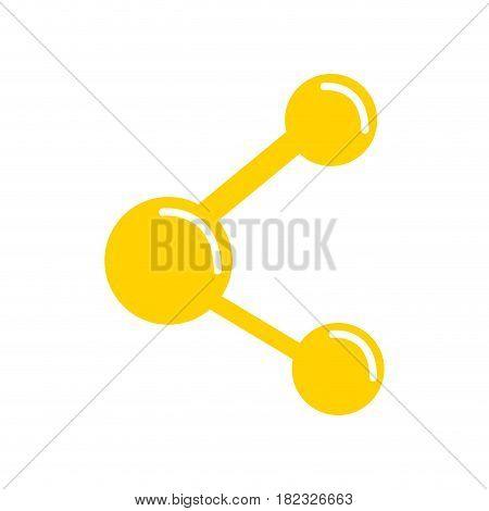 social digital share symbol icon, vector illustration