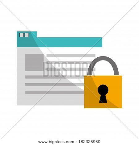 virtual folder security documents saved, vector illustration
