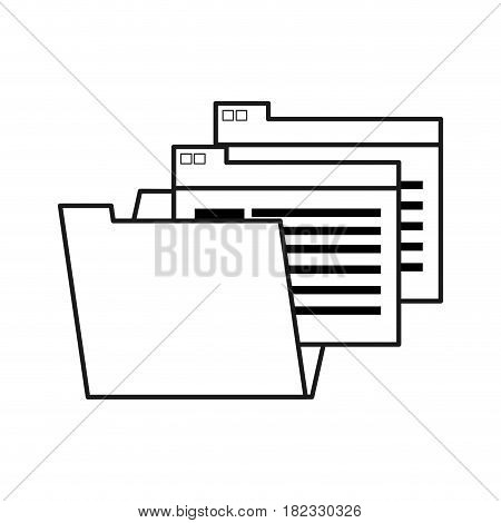 figure documents file folder icon, vector illustration