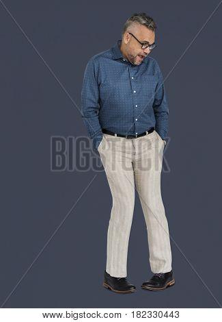 Caucasian Man Dancing Positive Mood