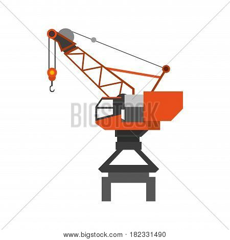 industrial crane icon vector ilustration job work