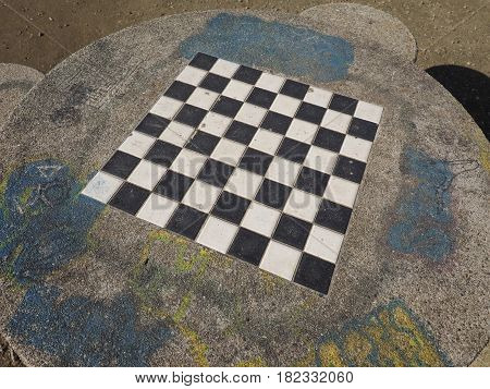 Chess Or Draught Checker Game Board