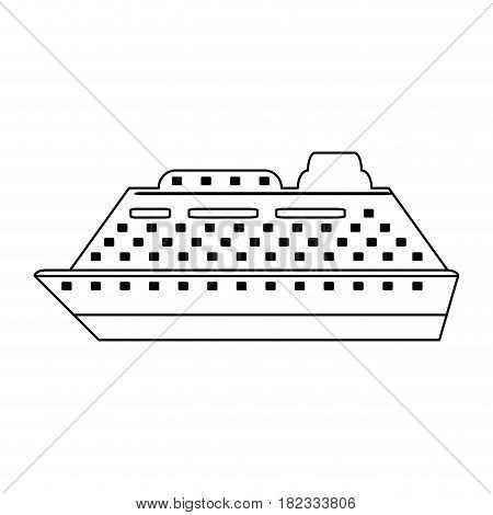 cruiseship travel icon image vector illustration design