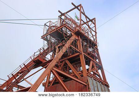 Headframe at Blaenavon Coal mine in Wales