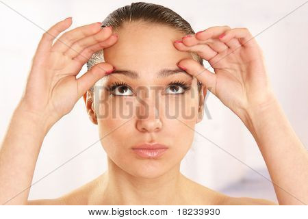 Medical examination face of beautiful woman