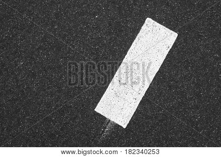 White Rectangle On Dark Gray Tarmac