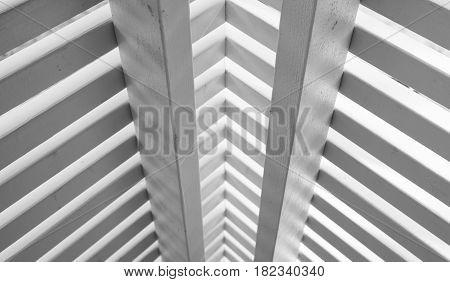 Wooden Railings Corner Made Of Planks