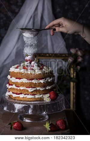 Angel Food Cake With Fresh Berries