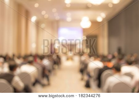 Abstract background of seminar room. (Blurred background)