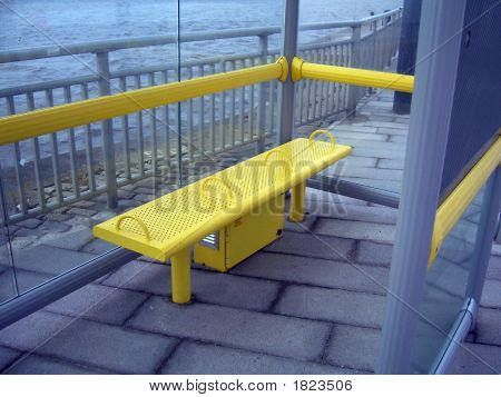Bus Stop Seat In Shelter