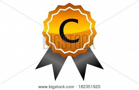 Logo Quality Ribbon Guarantee Promotion Initial C