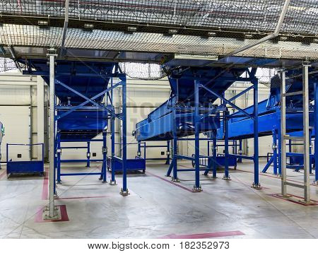 Sorting Line In Large Warehouse
