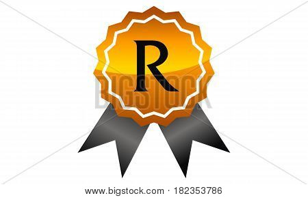 Logo Quality Ribbon Guarantee Promotion Initial R
