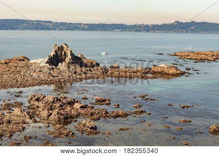 Low tide on a northwestern beach in Spain
