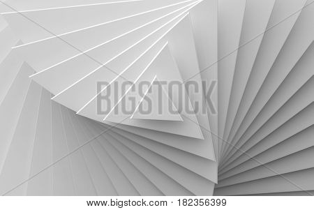 white background of different scale triangles