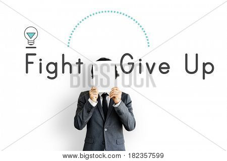 Motivation Attitude Fight Give Up Illustration