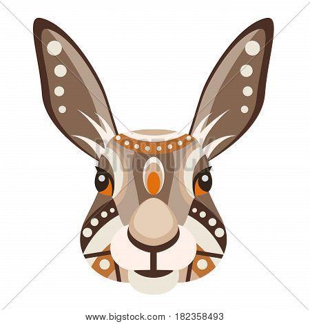Hare Head Logo. Rabbit Vector decorative Emblem