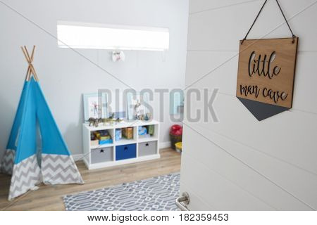 Interior Of Playroom In Stylish Contemporary Home