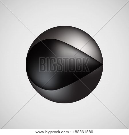 Black premium bubble badge, button template with realistic reflex and light background for logo, design concepts, banners, posters, web, sites, UI, applications, apps, prints. Vector illustration.