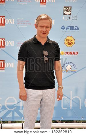 Giffoni Valle Piana Sa Italy - July 19 2015 : Martin Freeman at Giffoni Film Festival 2015 - on July 19 2015 in Giffoni Valle Piana Italy