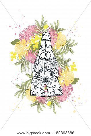 Element Yoga Mudra Hands Namaste