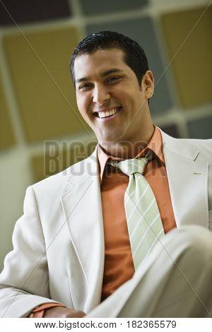 Hispanic businessman in suit