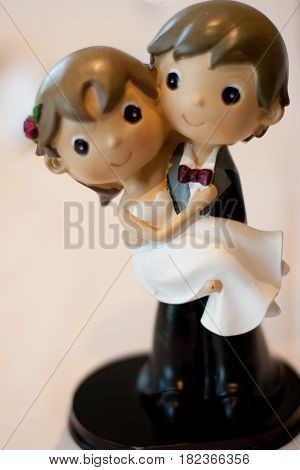 Groom and Bride figures from a wedding cake