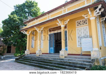 Hue, Vietnam - Jan 23 2015: Phan Boi Chau Memorial Museum. He Was A Well-known Patriot, Theorist, Po
