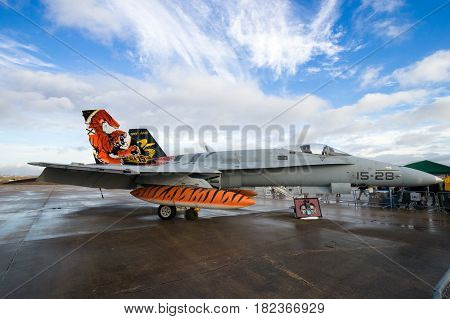 Spanish Air Force F/a-18 Hornet Fighter Jet Airplane