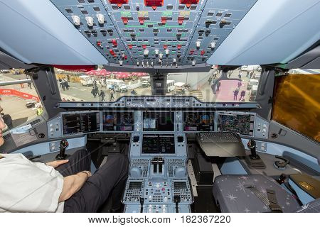 Airbus A350 Xwb Airplane Cockpit