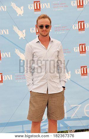 Giffoni Valle Piana Sa Italy - July 21 2015 : Tom Felton at Giffoni Film Festival 2015 - on July 21 2015 in Giffoni Valle Piana Italy