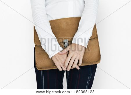 Formal Wear Brown Folder Bag Concept