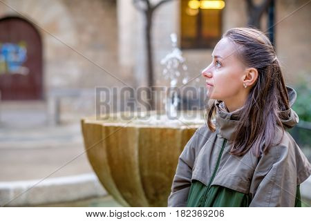 Woman at the street. Barcelona, Catalonia.