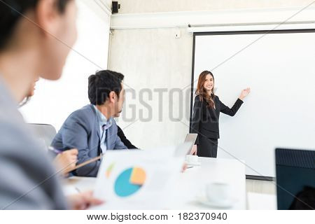 Business woman having presentation in conference room