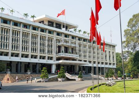 Ho Chi Minh City, Vietnam - Jan 26 2015: Independence Palace. A Famous Historical Museum In Ho Chi M