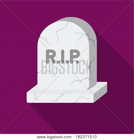 Headstone icon in flate style isolated on white background. Black and white magic symbol vector illustration.