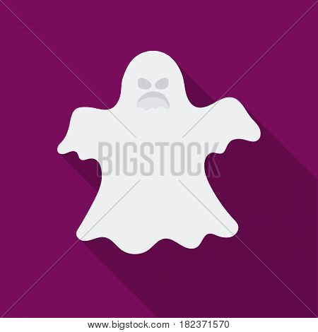 Ghost icon in flate style isolated on white background. Black and white magic symbol vector illustration.