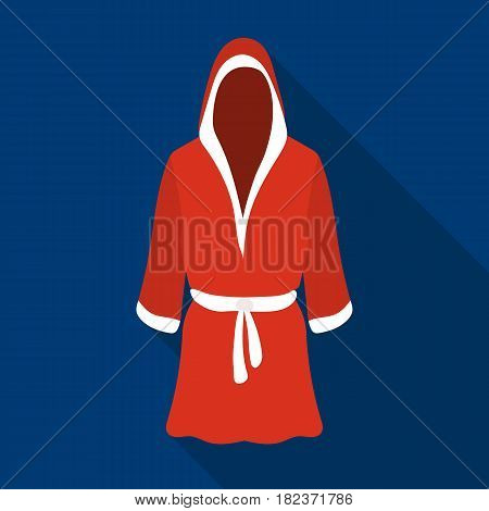 Boxing robe icon in flate style isolated on white background. Boxing symbol vector illustration.