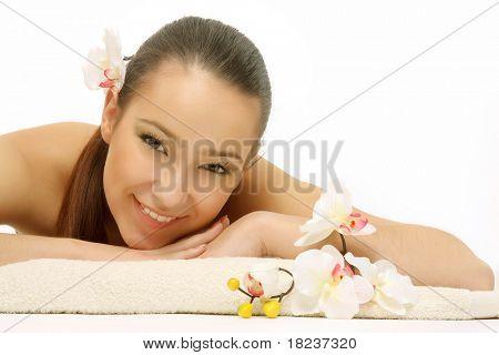 Beautiful woman posing full body