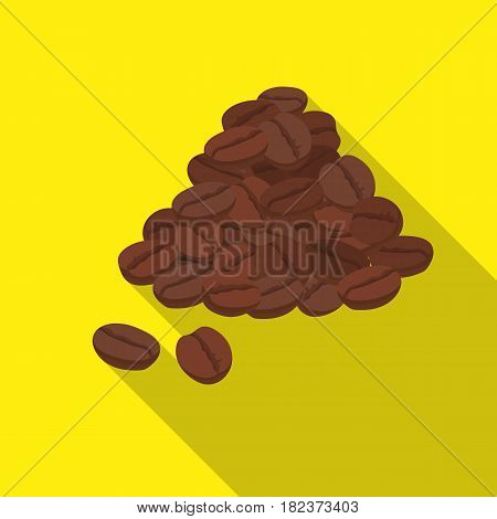 Brazilian coffee icon in flate design isolated on white background. Brazil country symbol stock vector illustration.