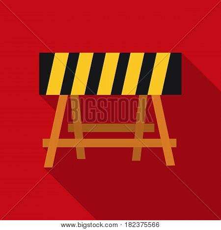 Construction barricade icon in flate style isolated on white background. Build and repair symbol vector illustration.