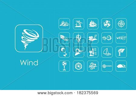 It is a set of wind simple web icons