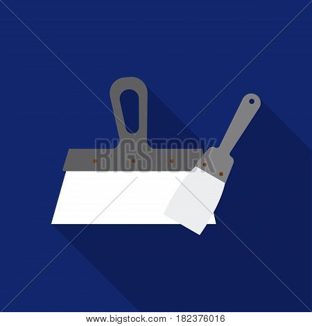 Putty knives icon in flate style isolated on white background. Build and repair symbol vector illustration.