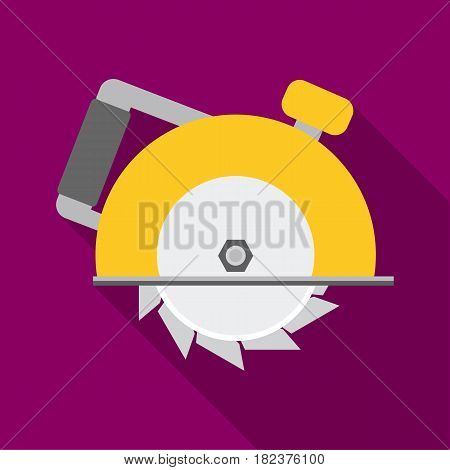Circular saw icon in flate style isolated on white background. Build and repair symbol vector illustration.