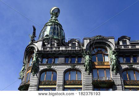 Old historical beautiful building in St. Petersburg