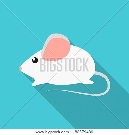 House mouse icon in flate style isolated on white background. Cat symbol vector illustration.