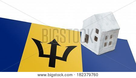 Small House On A Flag - Barbados